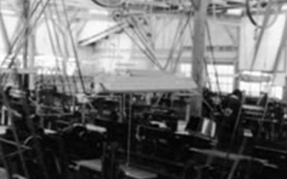 黒木織布工場内