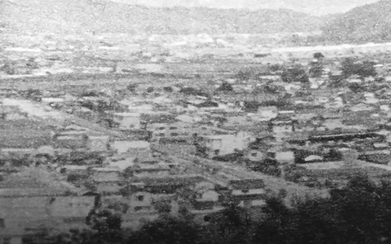 1973 Ibara city,whole view